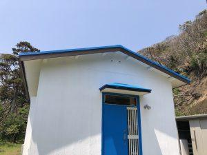 まる企画 大島分所は、建物の保全を一番の目的として、同時に爽やかカラーになりました!